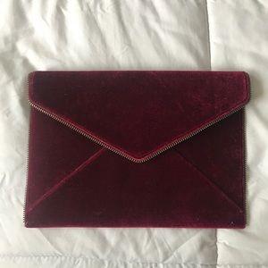 Rebecca Minkoff Berry Velvet Envelope Clutch
